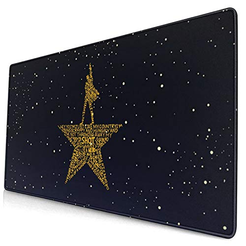 Musicals Hamilton Mouse Pad with Stitched Edge Mouse Mat, Non-Slip Rubber Base Mousepad for Laptop, Computer & Pc