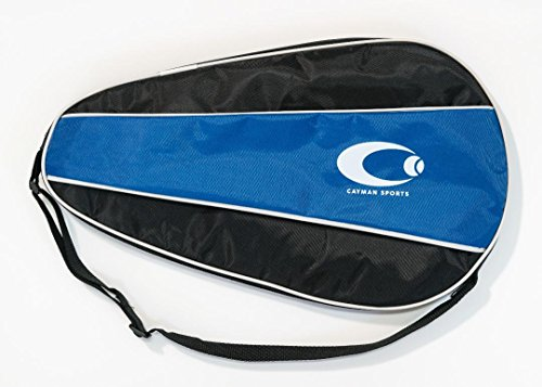 Cayman Sports Single Waterproof Pickleball Paddle Case - Best Pickleball Paddle Cover for Wide Body Paddles with Bonus Storage for Accessories (Blue)