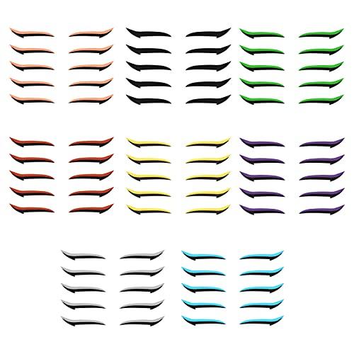 Tomshin Adesivo para eyeliner Fita dupla para pálpebras com brilho eyeliner sombra para olhos ferramenta de maquiagem para os olhos