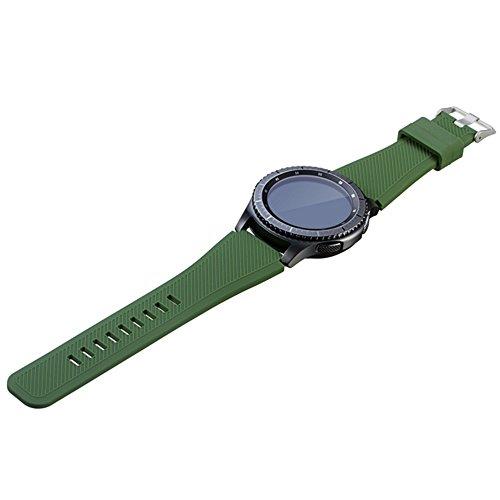 Kingnew - Correa de reloj para Samsung Gear S3 Frontier, color verde