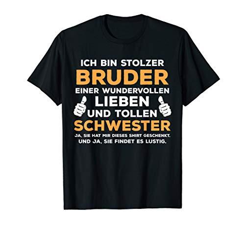 Lustiges Bruder Schwester Geburtstag Weihnachten Geschenk T-Shirt