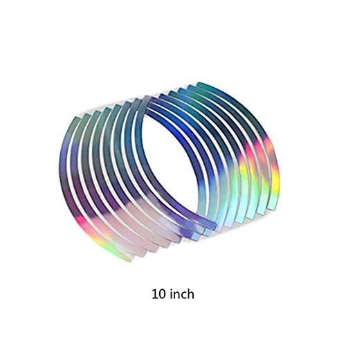 Aufkleber 16pcs PVC 10/12/14/18 Zoll Mode Durable Qualitäts-bewegliches Rad Felgenband for Motorrad Car Reflektierende Streifen Motorrad (Color : 10 inch)
