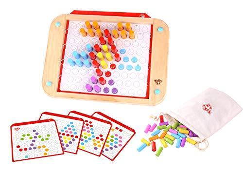 Tooky Toy- Tablette de Jeu avec pièces à Piquet créatives, TKC508, Multicolore