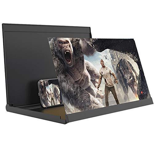 Lupa de pantalla Lupa de la pantalla del teléfono, soporte de soporte de teléfono celular plegable HD, amplificador de pantalla de teléfono fácil de transportar, fácil de llevar para videos, películas