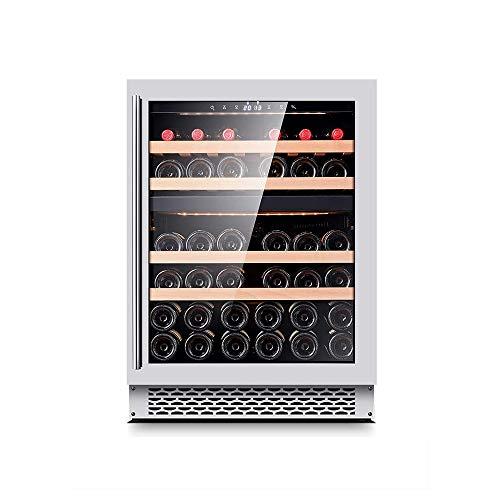 YFGQBCP Built-in gabinete del Vino, Doble Temperatura Constante Temperatura sin Escarcha de Hielo Bar Té casero Gabinete 57 * 59,5 * 82 Cm