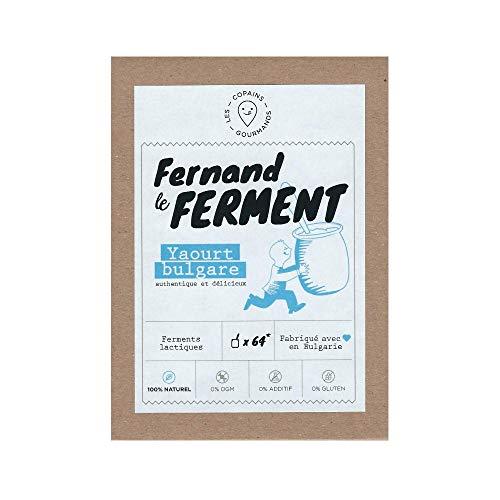 Fernand le Ferment yaourt maison, ferments lactiques lyophilisés 100% NATUREL, 4 sachets de 1 g, jusqu'à 64 yahourts bulgares avec yaourtière ou robot cuiseur