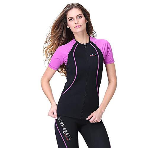ZWPY Wetsuit 1.5mm Neopren Schwimmanzug - Damen Shorty oder Einteiliger Neoprenanzug für Schnorcheln, Tauchen, Schwimmen, Surfen,XXL