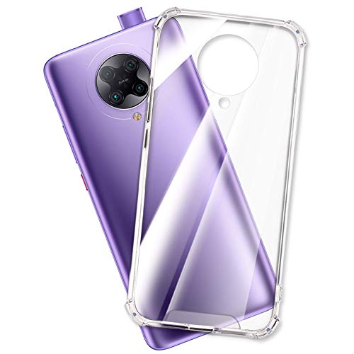 mtb more energy® Funda Crystal Armor para Xiaomi Poco F2 Pro, Redmi K30 Pro (6.67'') - Tapa Dura & Bordes Suaves - Esquinas reforzadas - Carcasa Anti Shock Cover Case Estuche