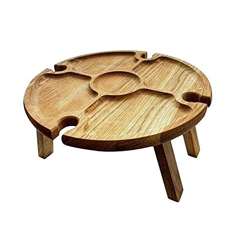 Tengan Tabla de Picnic Plegable de Madera portátil de Mesa Plegable Classical