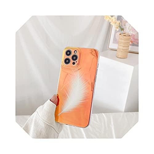 Fashion Pattern - Carcasa para iPhone 12 Pro 11 Pro Max 12 Mini 7 8 Plus XS Max XR X Glitter Aurora Soft TPU Cover-WW-for iPhone 12 Mini