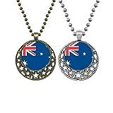 Collana con ciondolo a forma di bandiera nazionale dell'Australia Oceania Paese amanti della luna retrò