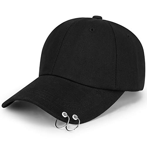 Kpop Wings Tour Jimin with Iron Rings Hats Love Yourself Snapback Baseball Cap Merchandise Black