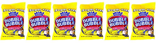 Dubble Bubble Gum 3.25 Ounce Bag (Pack of 3) – Individually Wrapped Sugar Free Bubble Gum