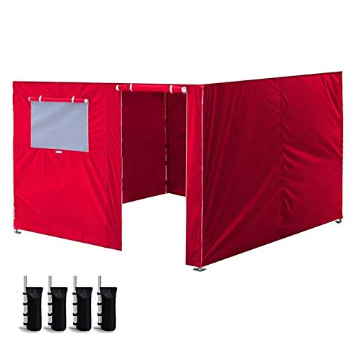 Zdj Herramienta 10 X 10 '' Ez hasta Gazebo del pabellón Carpa Shell Cremallera Lateral Panel de Pared Kit Hogar & Jardín (Color : Red)