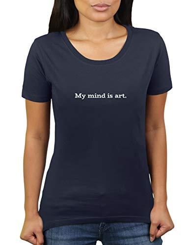 KaterLikoli My Mind is Art - Maglietta da donna Navy francese M
