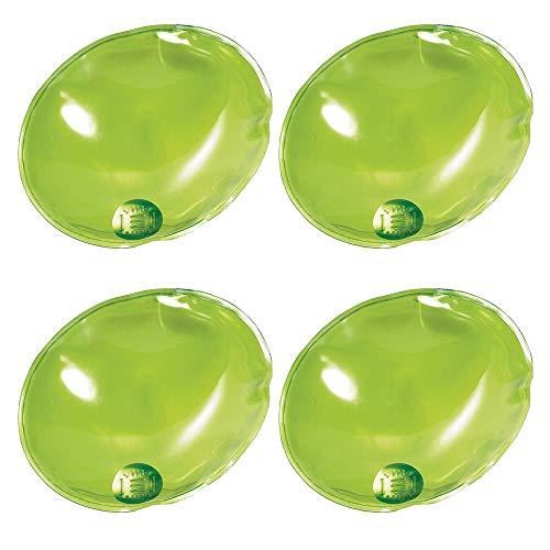 eBuyGB 1209124-4a Calentadores de Manos de Gel de Calentamiento instantáneo (4 Unidades), Hombre, Ovalado Verde, Talla única