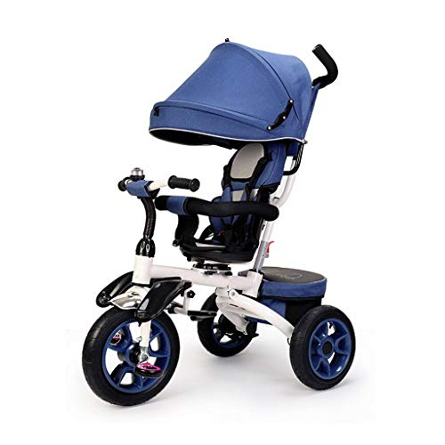 NBgy driewieler, eenvoudig opvouwbaar, multifunctionele 4-in-1-driewieler met draaistoel, tweeweg-zit-design, baby-driewieler buitenshuis, 3 kleuren, 120 x 54 x 58 cm