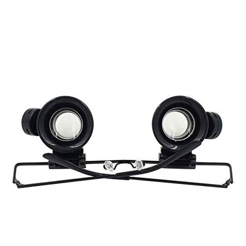 Holding Vergrootglas Dubbele Lens Vergrootglas Handen Gratis Kop-Gemonteerd met Licht LED Verlichte Vergrootglas voor Lezen, instecting