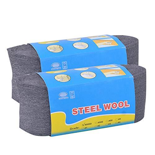 Lana De Acero 2 UNIDS Flexible No.0000 Almohadillas de Lana de Acero Sparkler Accesorios de Fotografía para la Limpieza Pulido Muebles Carpintería Carpintería Ligera Pintada