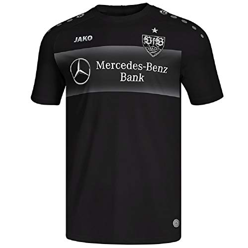 JAKO VfB Stuttgart Teamline Einlauf Trikot T-Shirt 19/20 (L, schwarz)