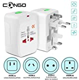 Congo Universal International All in One Worldwide Travel Adapter Wall Charger AC Power