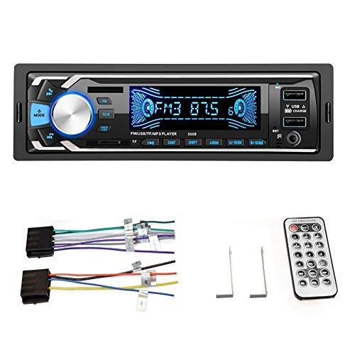 Autoradio radio-ontvanger, bluetooth auto adapter 12v universele digitale bluetooth mp3 handsfree dual USB auto speler (kleurrijke versie 5009)