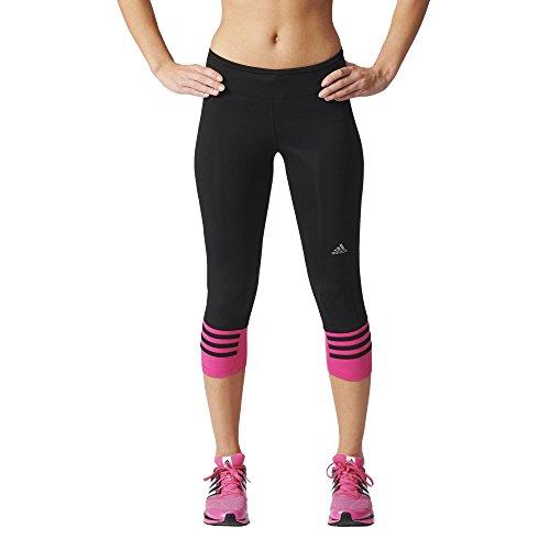 adidas Damen 3/4 Tights Response, Black/Shock Pink, S