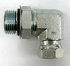 AF 9515-12-08-3/4 Male O-ring Boss (1-1/16''-12 Threads) X 1/2 Female Pipe (.840''-14 Threads) Swivel 90 Elbow