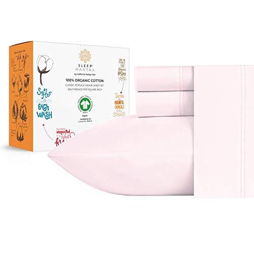 Our #7 Pick is the Sleep Mantra 100% Organic Cotton Percale Sheet Set