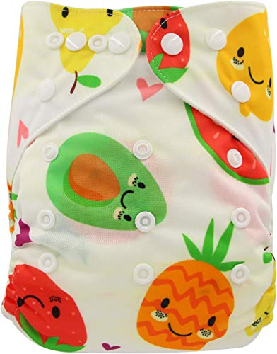 Ohbabyka Reusable Washable Baby Boys/Girls Pocket Cloth Diapers with 1pc Insert ¡