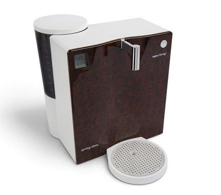 Mobiler Wasserfilter Aqua Living Springtime 420 Classic Wurzelholzoptik dunkel Umkehrosmose-Technik
