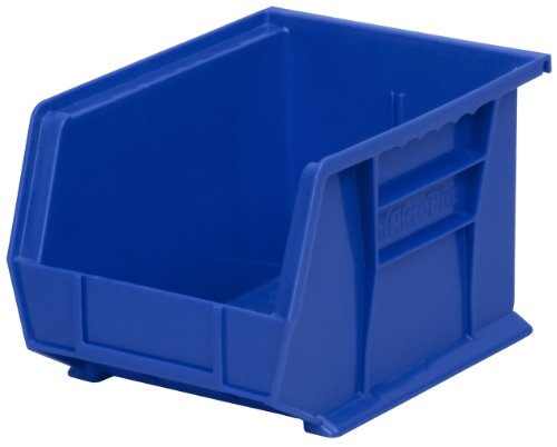 Akro-Mils 30239 AkroBins Plastic Storage Bin Hanging Stacking Containers, (11-Inch x 8-Inch x 7-Inch), Blue, (6-Pack)