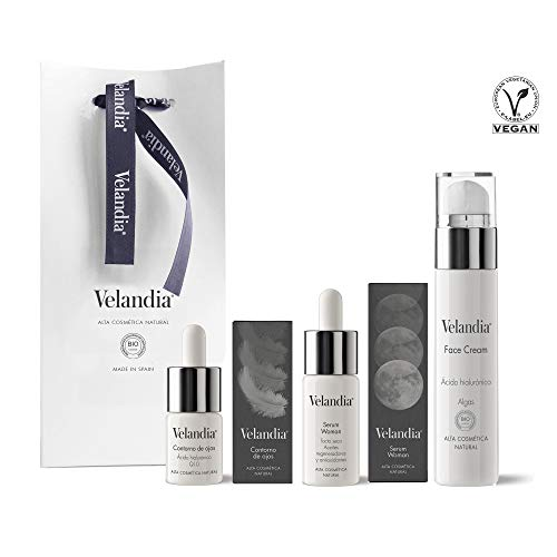 Pack Cosmética Woman (3ref.) Velandia® Crema facial 50ml. - Serum Woman 30ml. - Contorno de Ojos 15ml.