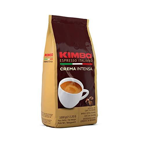Kimbo Chicchi di Caffè Interi Crema Intensa, Tostatura Media, Busta da 1kg