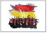 Silhouette Flamenco - Imán para nevera, diseño de bandera de España