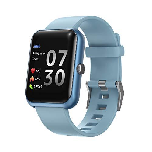 Septoui Smartwatch, 1.3' Pantalla Táctil Reloj Inteligente IP68 para Hombre Mujer Niños, Pulsera de Actividad Deportivo con Pulsómetro, Presión Arterial, Monitor de Sueño Podómetro para Android iOS