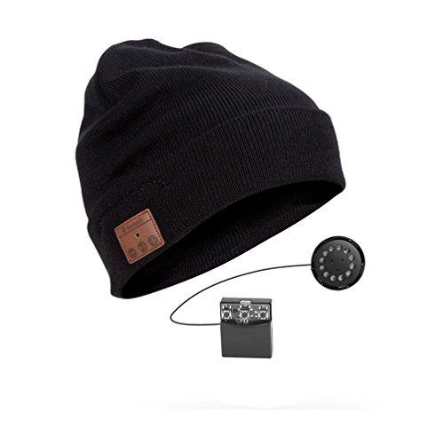 YI WORLD Smart Casquette Bluetooth Beanie (oreillette Bluetooth Hat) Fil Casque Music Hat Microphone intégré Répondre aux appels Équipement, 002