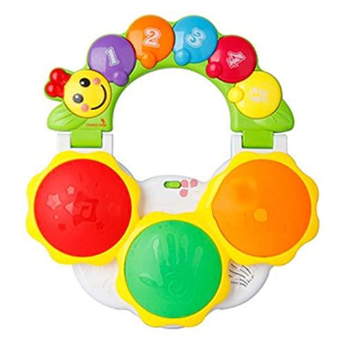 ZJJX Juguetes musicales para bebés, juguetes musicales para bebés, tambor eléctrico de piano eléctrico, con luz y 7 modos de sonido para los niños