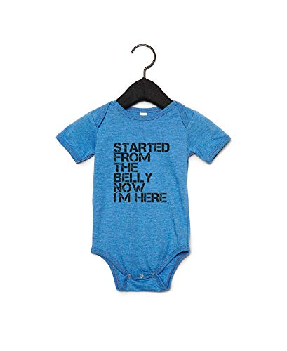 Started from The Belly Now Body pour bébé Bleu - Blanc - 2 mois