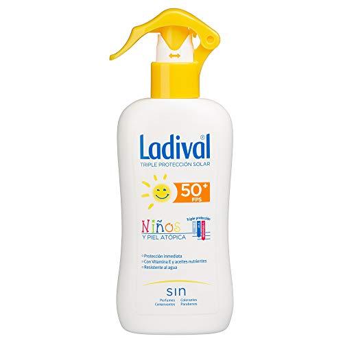 Oferta de Ladival Protector Solar FPS 50+ resistente al agua para niños y piel atópica en Spray -200ml