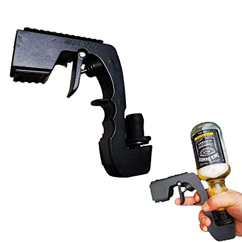 QIULAO Burbarry Blaster Champagne Spray Pistola, Tapón de Vino Alloy Champagne Dispensador, Dispensador de Cerveza para Fiestas, Bar Atmósfera Props (Color : Black)