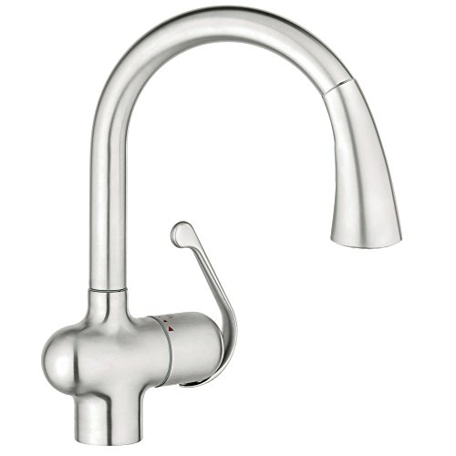 grohe kitchen faucet in chrome - 9