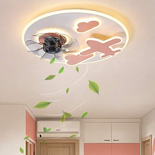 Lámpara de ventilador, ventiladores de techo LED modernos con control remoto de luz, ventilador de techo silencioso regulable, aspa para dormitorio, cocina, ventilador de techo