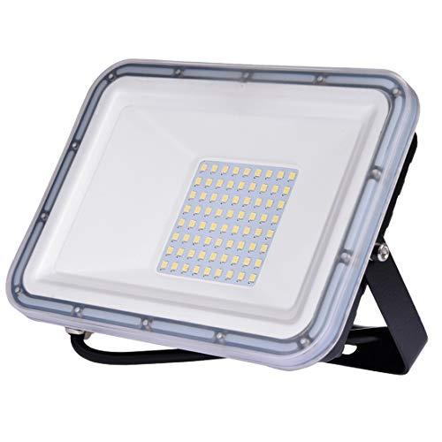 50W Projecteur LED Extérieur, IP67 étanche Spot LED Extérieur, Super Lumineux 4000LM Blanc Froid 6500K éclairage de Sécurité pour Jardin, Cour, Garage, Entrée, Terrasse