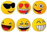 DISOK - Lote de 48 Huchas Emoticonos - Huchas Divertidas Originales Emoticonos - Regalos, Regalo, Detalles de Primera Comunión, Comunión, Cumpleaños