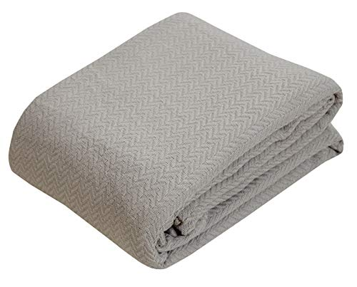 100% Soft Premium Ringspun Cotton Thermal Blanket - Twin/Twin XL - Taupe - Snuggle in These Super Soft Cozy Cotton Blankets - Perfect for Layering Any Bed - Provides Comfort and Warmth for Years