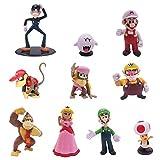 Super Mario Cupcake Toppers, NALCY 10PCS Super Mario Figuras Set Super Mario Happy Birthday Party Supplies Decoraciones