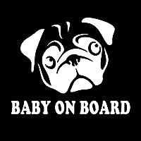 車のステッカー 車の中の警告ステッカー、美しい犬、最初のキャラクターの窓、装飾的なパーソナライズステッカー17cm * 14cm BJRHFN (Color : Silver)