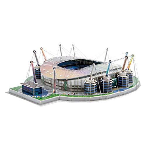 holilest Puzzle, DIY 3D Puzzle Puzzle World Football Stadium Fußballspielplatz montiert Gebäude-M