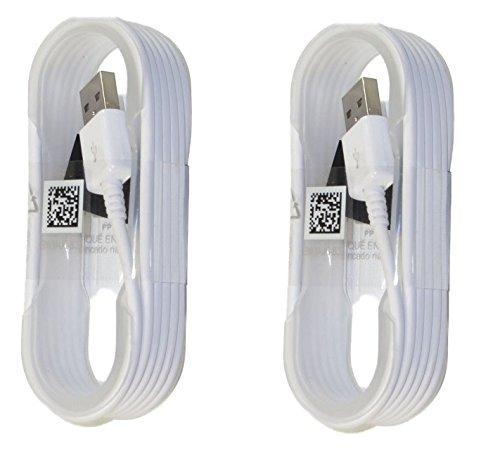 Samsung ECB-DU4EWE OEM 5-Pies Micro USB Datos de sincronización de los cables de carga para Galaxy S6 / S6 Edge / S6 Edge + / S7 / S7 Edge / Note 4/5 / Edge, Paquete de 2